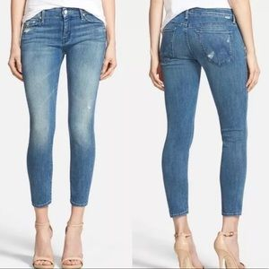 MOTHER 'The Looker Crop' Jeans in Graffiti Girl